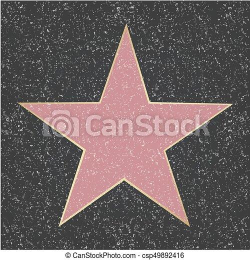 étoile, renommée - csp49892416