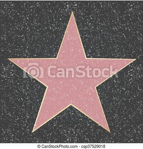 étoile, renommée, promenade - csp37529018