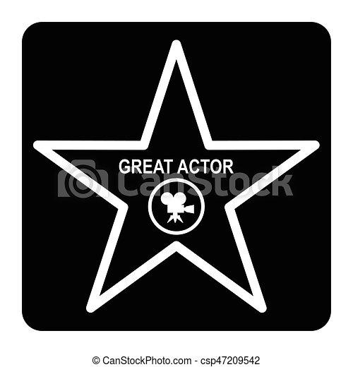 étoile, renommée, promenade - csp47209542