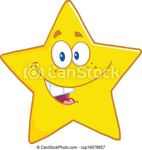 étoile, sourire, caractère - csp16078657