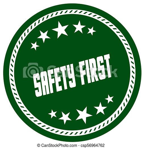 étoile, timbre, sécurité, vert, 5, premier - csp56964762
