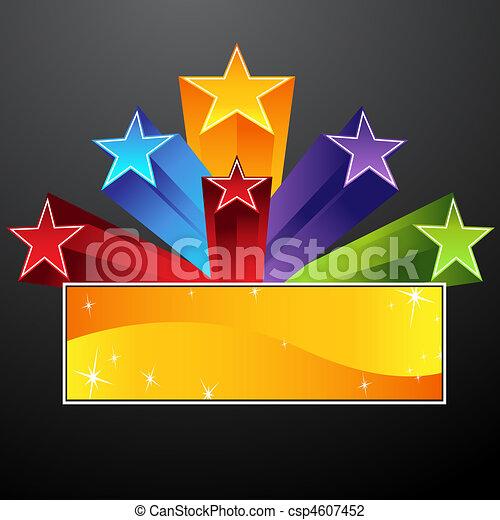 étoile, tir, bannière - csp4607452