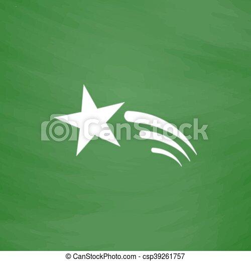 étoile, vecteur, tir, icône - csp39261757
