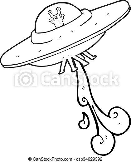 Tranger blanc noir vaisseau spatial dessin anim - Dessin vaisseau spatial ...