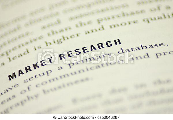 étude de marché - csp0046287