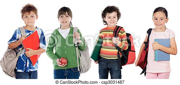 étudiants, groupe, enfants - csp3031487