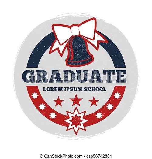 étudiants, grunge, vecteur, bannière, diplômé - csp56742884