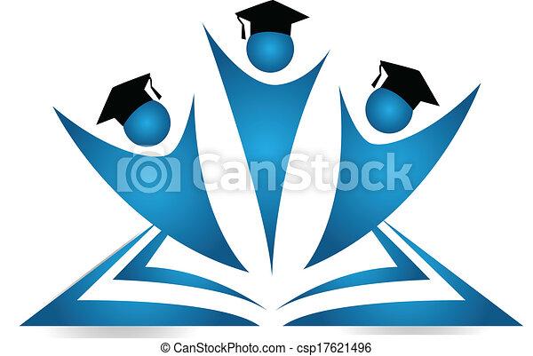 étudiants, logo, collaboration, diplômés - csp17621496