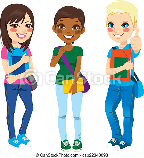 étudiants, multi ethnique - csp22340093