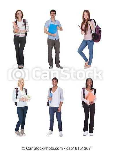 étudiants, multi, groupe, racial - csp16151367