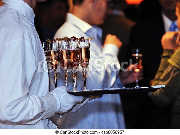 événement, fête, coctail, banquet, restauration - csp6056957