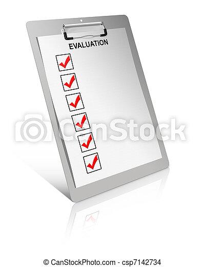 évaluation, liste - csp7142734