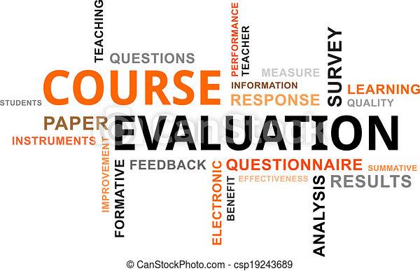 évaluation, -, nuage, mot, cours - csp19243689