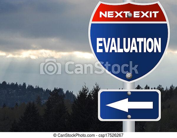 évaluation, panneaux signalisations - csp17526267