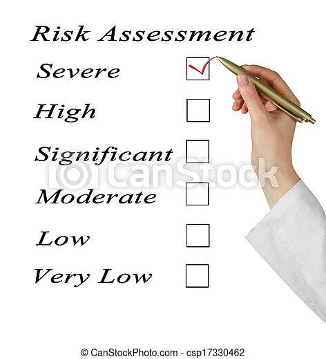 évaluation, risque, niveau - csp17330462