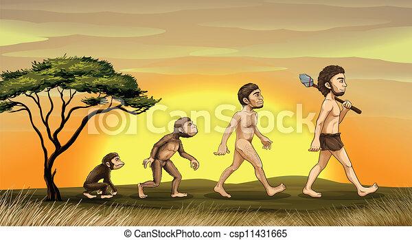 évolution, homme - csp11431665