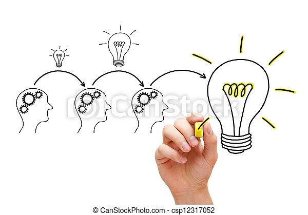 évolution, idée - csp12317052