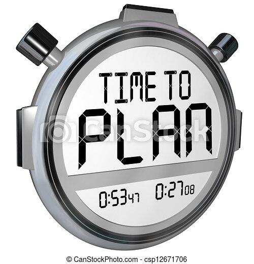 Es hora de planear el éxito de la estrategia - csp12671706