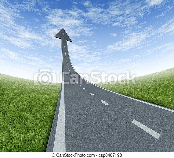Autopista de éxito - csp8407198