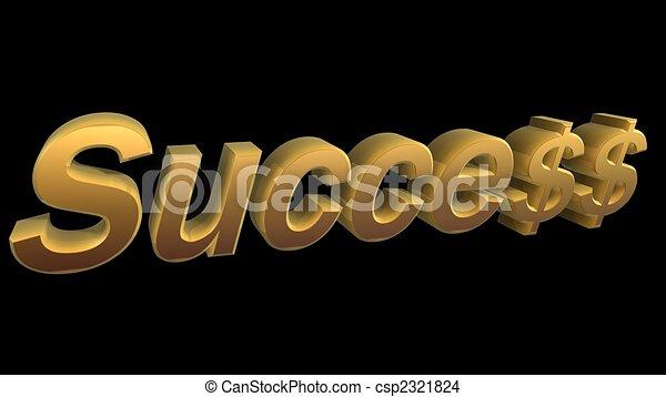 Éxito en los negocios - csp2321824