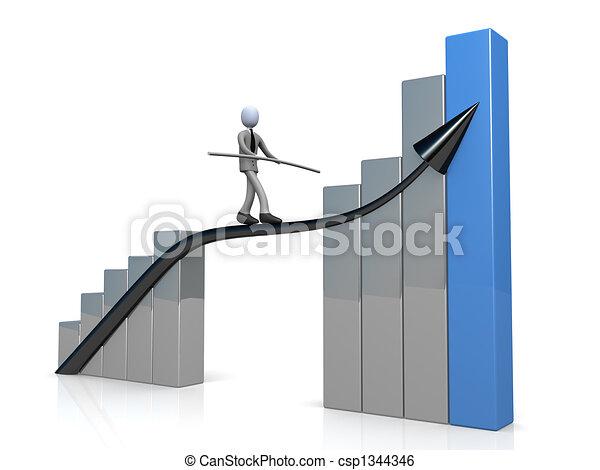 El éxito en los negocios - csp1344346