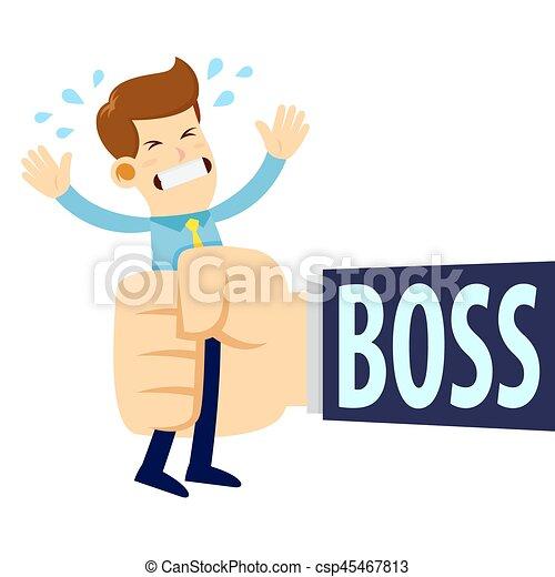 être, grande main, serré, homme affaires, patron - csp45467813