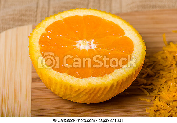 être, produire, coupure, zeste, orange - csp39271801