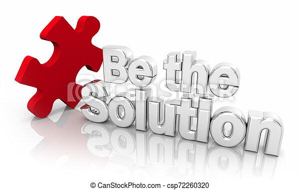 être, solver, puzzle, solution, illustration, mots, problème, morceau, 3d - csp72260320