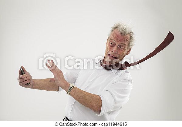 être, vents, fort, battu, homme affaires - csp11944615