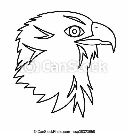 ícone, águia, estilo, esboço - csp38323658