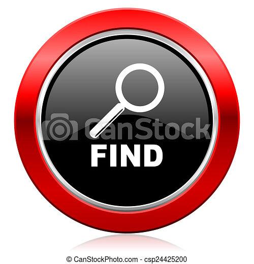 ícone, achar - csp24425200