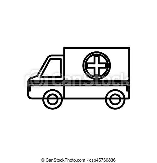 ícone, ambulância, veículo - csp45760836