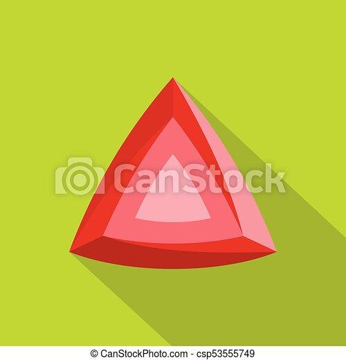 ícone, apartamento, diamante, style., vermelho - csp53555749
