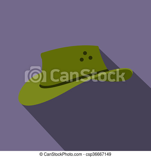 ícone, apartamento, estilo, chapéu, boiadeiro - csp36667149