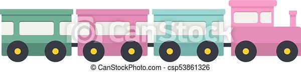 ícone, apartamento, trem expresso, style. - csp53861326