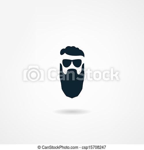 ícone, barba - csp15708247