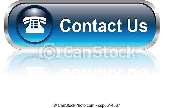 ícone, botão, contactar-nos - csp6514587