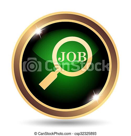 ícone, busca, trabalho - csp32325893