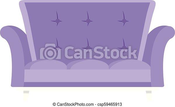 ícone, cabriole, estilo, sofá, apartamento - csp59465913
