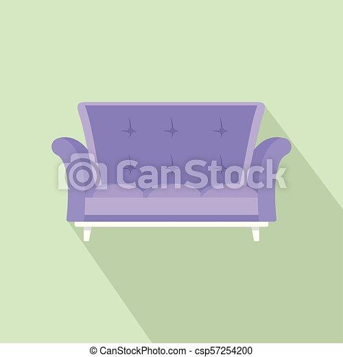 ícone, cabriole, estilo, sofá, apartamento - csp57254200