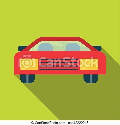 ícone, car, estilo, apartamento - csp42222245