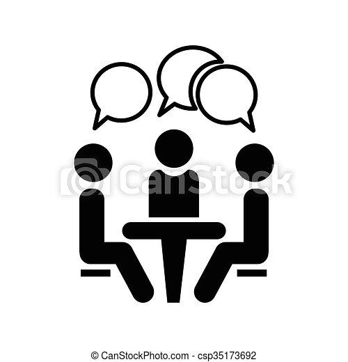 ícone, conference. - csp35173692