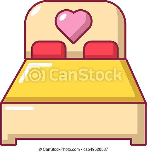 ícone, estilo, caricatura, cama - csp49528537
