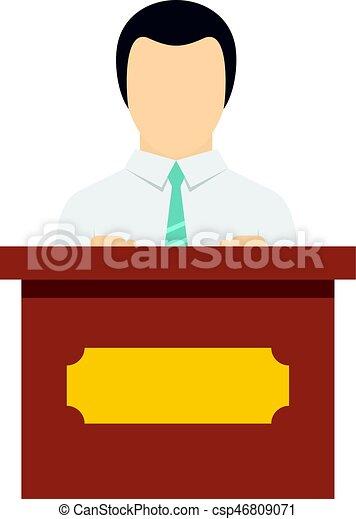 ícone, orador, isolado, público - csp46809071