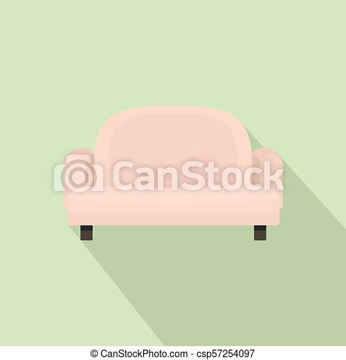 ícone, poltrona, estilo, sofá, apartamento - csp57254097