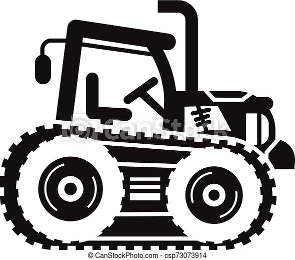 ícone, simples, estilo, trator, crawler - csp73073914