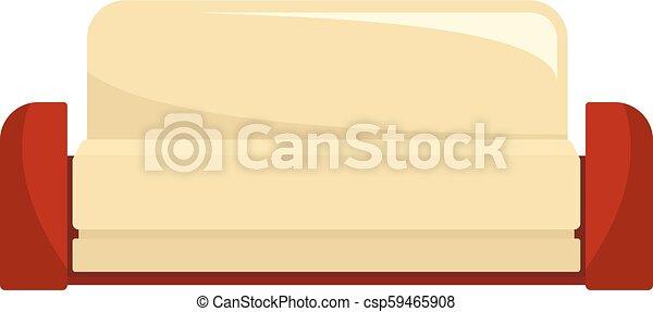 ícone, sofá, estilo, inglês, apartamento - csp59465908