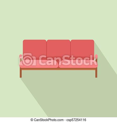 ícone, sofá, estilo, livro do razão, apartamento - csp57254116