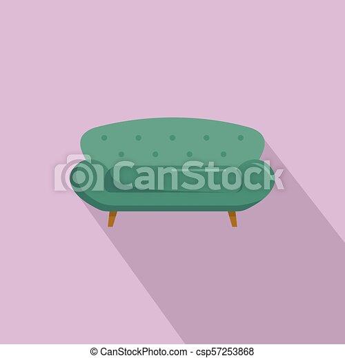 ícone, sofá, estilo, sette, apartamento - csp57253868