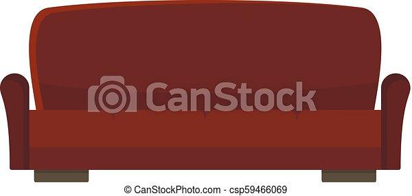ícone, sofá, lawson, estilo, apartamento - csp59466069